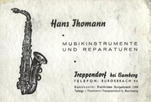 visiting card hans thomann