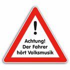 Bandshop Sticker Achtung der Fahrer