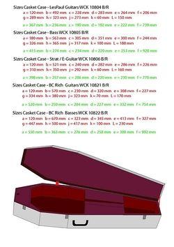 Dimensions: Casket Flight Cases