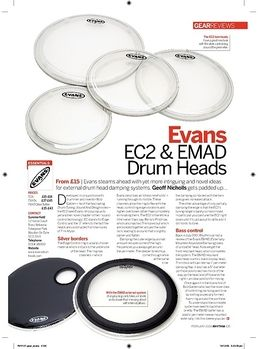 "22"" EMAD2 Clear Bass Drum"