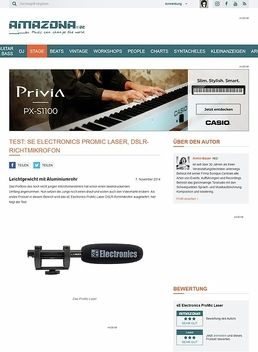 Test: sE Electronics ProMic Laser, DSLR-Richtmikrofon