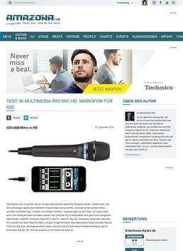 Test: IK Multimedia iRig Mic HD, Mikrofon für iOS