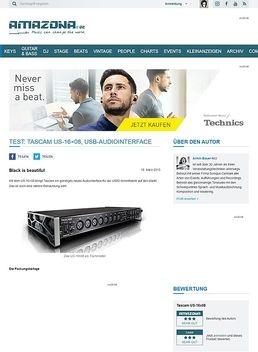 Test: Tascam US-16x08, USB-Audiointerface