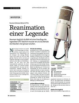 Neumann Collectors Edition U47 fet