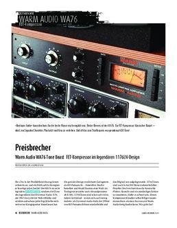 Warm Audio WA76 Tone Beast - FET-Kompressor im legendären 1176LN-Design