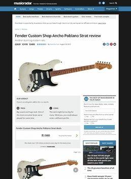 Ancho Poblano Strat SB Ltd