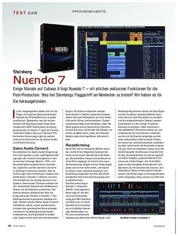 Nuendo 7 Update from V6