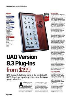 UAD Version 8.3 Plug-Ins