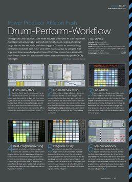 Ableton Push - Drum-Perform-Workflow