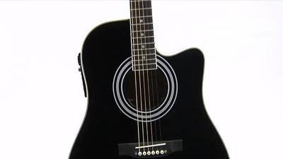 Harley Benton HBD120CE BK Westerngitarre