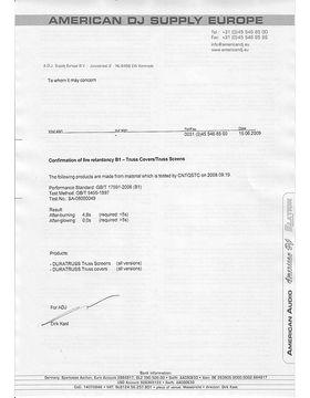 Fire Resistance Certificate