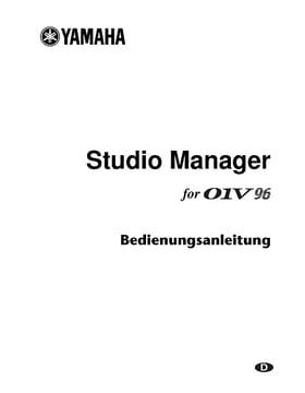 Studiomanager Manual
