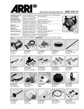 Spare parts ARRI 300