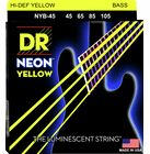 DR Strings NYB-45 Strings Set Neon Yellow