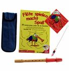 Streetlife Music Soprano Recorder Set Red