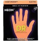 DR Strings HiDef Neon Orange Lite NOE-9