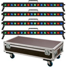 Stairville Show Bar Tri LED Tour Bundle 4