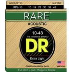 DR Strings Rare Acoustic RPL 10