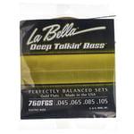 La Bella 760FGS DT'Bass Flat Gold Alloy