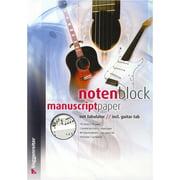 Voggenreiter Notenblock Music Paper Tab A4