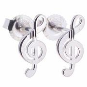 Rockys Stud Earrings Treble Clef S