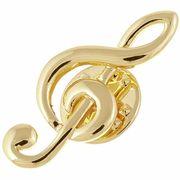 Rockys Pin Treble Clef Gold