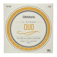 Daddario : EJ95 Oud Silver Plated Copper