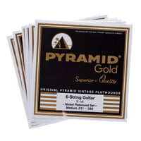 Pyramid : Gold Flatwound 011-048