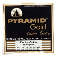 Pyramid : Gold Nickel Flatwound 310/12