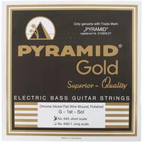 Pyramid : Gold Flatwound 040-100