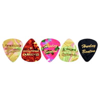 Harley Benton : Guitar Pick Medium 5 Pack