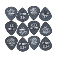 Dunlop : Tortex Black Silver Jazz 50 6P