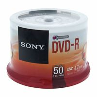 Sony : DMR47 DVD-R Spindle of 50pcs