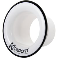 Kick Port : Bass Drum Insert Booster White