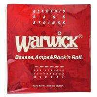 Warwick : 46400 ML 6 Red Strings Nickel