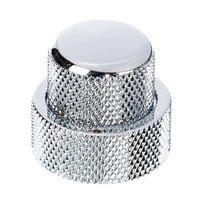 Allparts : Stacked Pot Knob Set Chrome