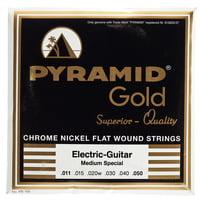 Pyramid : Gold Flatwound 011-050
