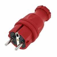 PCE : Rubber Safety Plug EU Red