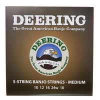 Deering : 5 String Banjo Medium Set