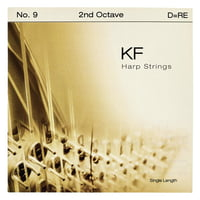 Bow Brand : KF 2nd D Harp String No.9