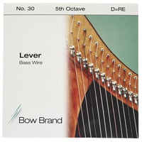 Bow Brand : BW 5th D Harp Bass Wire No.30