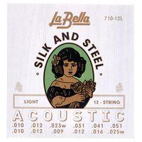 La Bella : 710-12L Silk & Steel L