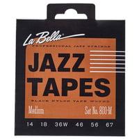 La Bella : 800M Jazz Black Nylon M