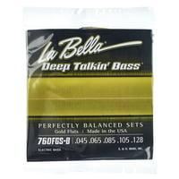 La Bella : 760FGS-B DT\'Bass Gold Flats