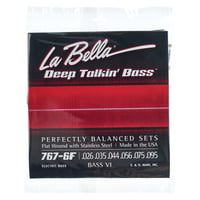 La Bella : 767-6F Bass VI Flat
