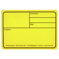 Stairville : Tourlabel 177x127mm Yellow
