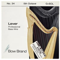 Bow Brand : BWP 5th G Harp Bass Wire No.34
