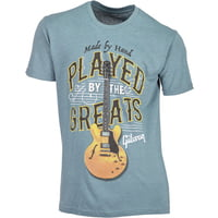 Gibson : T-Shirt Played By. Blue M