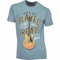 Gibson : T-Shirt Played By. Blue L