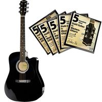 Fender : Squier SA-105CE BK Bundle 2